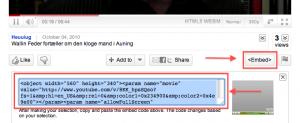 Sådan indlejrer du fra Youtube