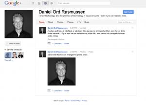Google+ profilside