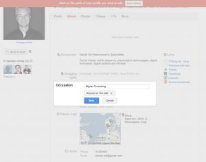 Privacy indstillinger på Google+