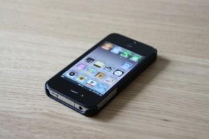 iPhone 4 på hovedet