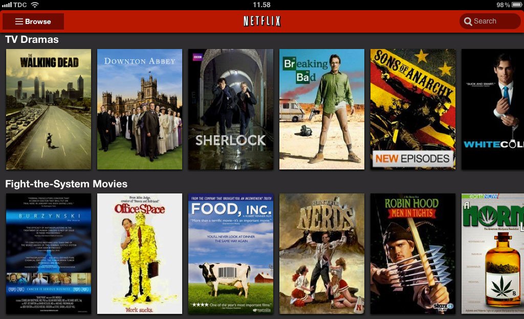 how to get us netflix on the ipad